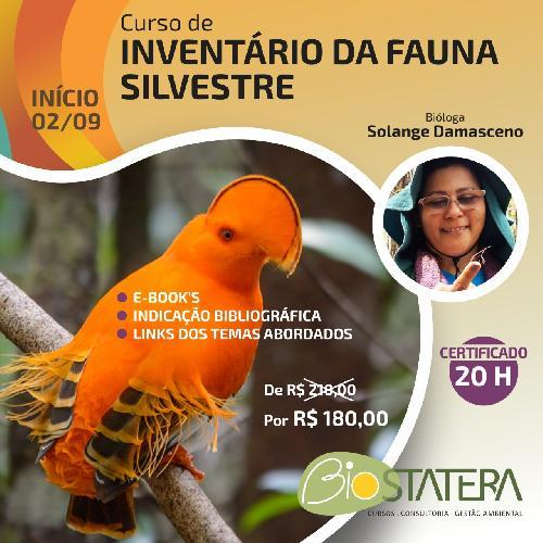 Curso de Inventário de Fauna Silvestre